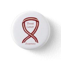 Throat Cancer Awareness Ribbon Stripes Custom Pins