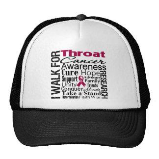 Throat Cancer Awareness Walk Trucker Hats
