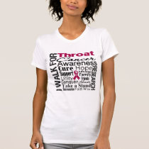 Throat Cancer Awareness Walk Tee Shirt