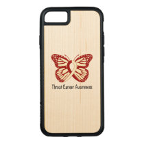 Throat Cancer Awareness with Butterfly Ribbon Carved iPhone 8/7 Case
