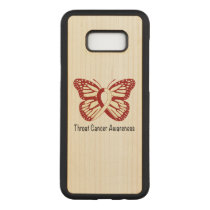 Throat Cancer Awareness with Butterfly Ribbon Carved Samsung Galaxy S8  Case