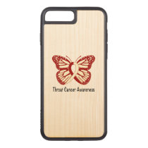 Throat Cancer Awareness with Butterfly Ribbon Carved iPhone 8 Plus/7 Plus Case