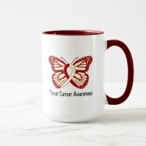 Throat Cancer Awareness with Butterfly Ribbon Mug