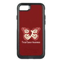 Throat Cancer Awareness with Butterfly Ribbon OtterBox Commuter iPhone 8/7 Case