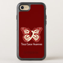 Throat Cancer Awareness with Butterfly Ribbon OtterBox Symmetry iPhone 8/7 Case