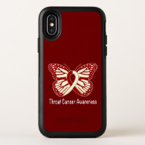 Throat Cancer Awareness with Butterfly Ribbon OtterBox Symmetry iPhone X Case