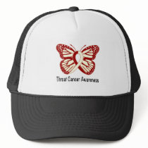 Throat Cancer Awareness with Butterfly Ribbon Trucker Hat