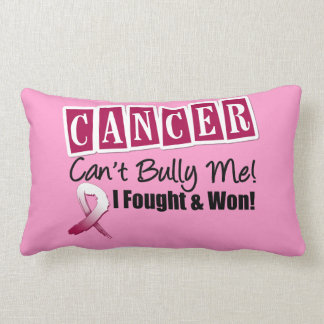 Throat Cancer Can't Bully Me...I Fought I Won Pillows