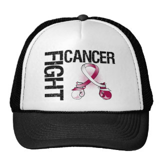 Throat Cancer Fight Boxing Gloves Trucker Hat