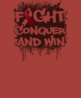 Throat Cancer Fight Conquer and Win Shirt