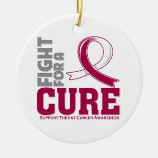 Throat Cancer Fight For A Cure Ornament