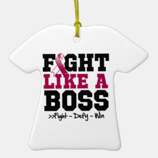 Throat Cancer Fight Like a Boss Ornament