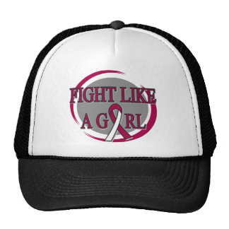 Throat Cancer Fight Like A Girl Circular Mesh Hat