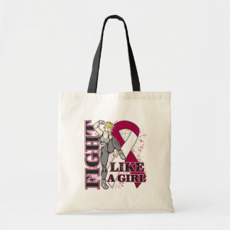 Throat Cancer Fight Like A Girl Kickin Butt Budget Tote Bag