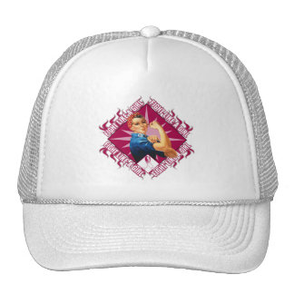 Throat Cancer Fight Rosie The Riveter Hat