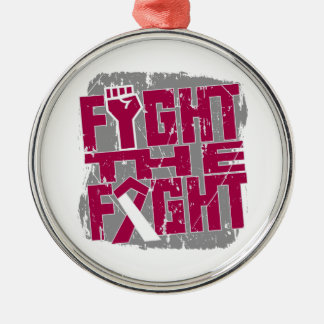 Throat Cancer Fight The Fight Christmas Ornaments