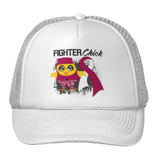 Throat Cancer Fighter Chick Grunge Hat