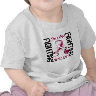 Throat Cancer FIGHTING Like a Girl Tshirts