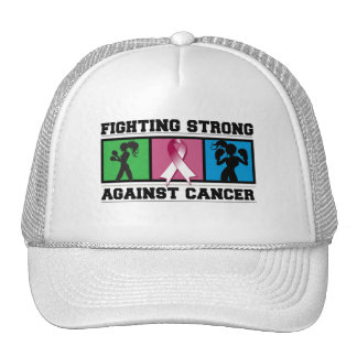 Throat Cancer Fighting Strong Trucker Hats