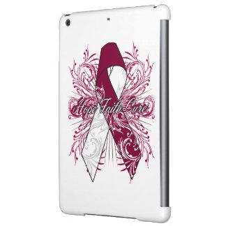 Throat Cancer Flourish Hope Faith Cure Cover For iPad Air