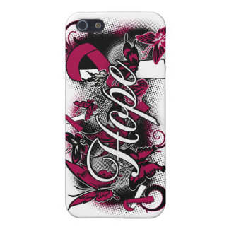 Throat Cancer Hope Garden Ribbon iPhone 5 Cover