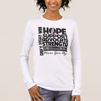 Throat Cancer Hope Support Advocate Long Sleeve T-Shirt