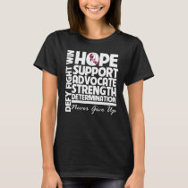 Throat Cancer Hope Support Strength T-Shirt
