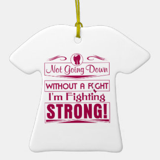 Throat Cancer I Am Fighting Strong Christmas Ornament