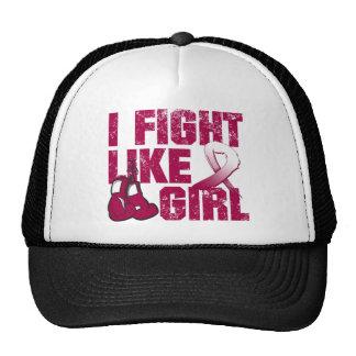 Throat Cancer I Fight Like A Girl (Grunge) Trucker Hat
