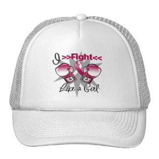 Throat Cancer I Fight Like a Girl With Gloves Hats