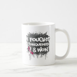 Throat Cancer I Fought Conquered Won Coffee Mug