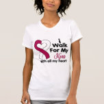 Throat Cancer I Walk For My Hero T Shirts