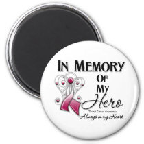 Throat Cancer In Memory of My Hero 2 Inch Round Magnet