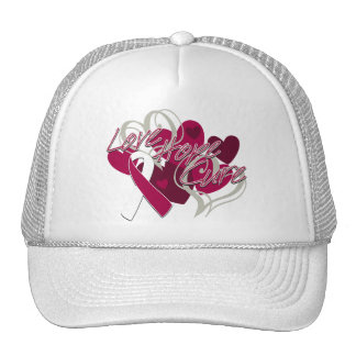 Throat Cancer Love Hope Cure Hat