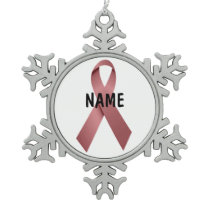 Throat Cancer Memorial Ornament