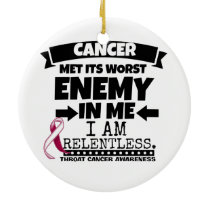 Throat Cancer Met Its Worst Enemy in Me Ceramic Ornament