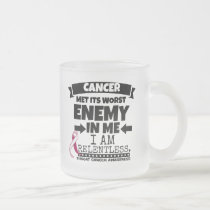 Throat Cancer Met Its Worst Enemy in Me Frosted Glass Coffee Mug