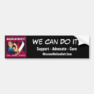 Throat Cancer Mission We Can Do It Car Bumper Sticker