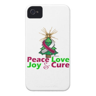 Throat Cancer Peace Love Joy Cure iPhone 4 Covers
