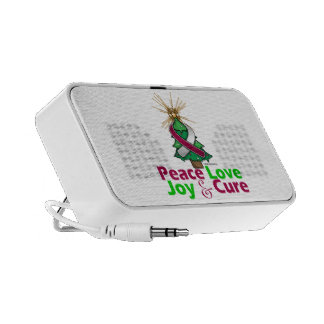Throat Cancer Peace Love Joy Cure Portable Speakers