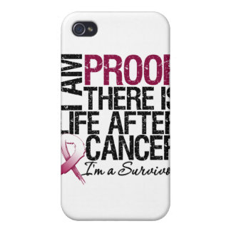 Throat Cancer Proof There is Life After Cancer iPhone 4 Cases