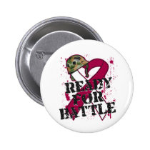 Throat Cancer Ready For Battle 2 Inch Round Button