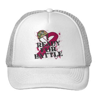 Throat Cancer Ready For Battle Mesh Hat