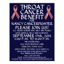Throat Cancer Ribbon Benefit Flyer