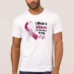 Throat Cancer Ribbon Hero in My Life T-shirt