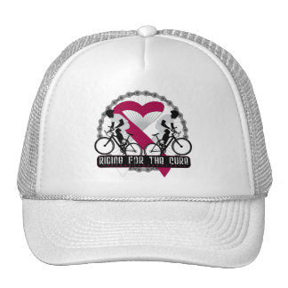 Throat Cancer Riding For The Cure Hat