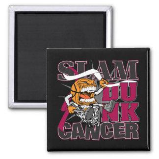 Throat Cancer - Slam Dunk Cancer Fridge Magnets