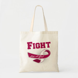Throat Cancer Sporty Fight Like A Girl Bags
