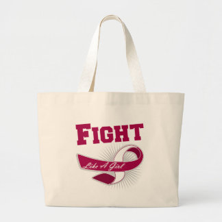 Throat Cancer Sporty Fight Like A Girl Bag