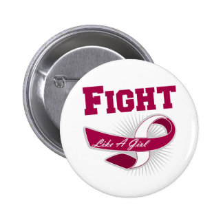 Throat Cancer Sporty Fight Like A Girl Buttons